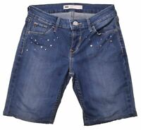 LEVI'S Womens Denim Shorts W26 L30 Blue Cotton  LH09