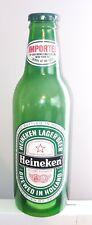 "Vintage Large Heineken Promo Plastic Bottle 24"" Tall Green,"