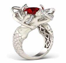 2.50 Ct Pink & White Diamond Mermaid Designed Wedding Fashion Ring In 925 Silver