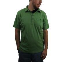 PATAGONIA Mens Green Off Hand Polo Shirt Size Medium Organic Cotton Short Sleeve