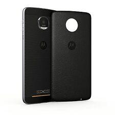 Motorola Style Shell BACKCOVER geeignet für Moto Z und Moto Z play Schwarz Leder