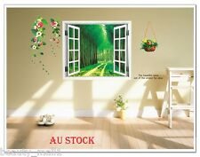 "3D ""Forest Window"" Removable Family Home Decor DIY Vinyl Wall Sticker Decal Art"