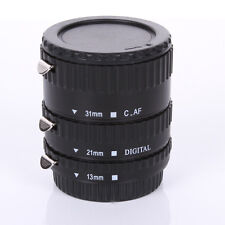 Auto Focus AF Automatic Extension Tube Black Metal For Kenko Canon EF EF-S Lens