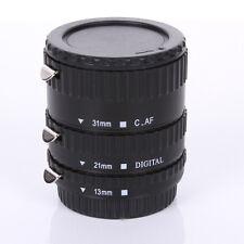 Black Metal Auto Focus Macro Automatic Extension Tube for Kenko Canon EF-S Lens
