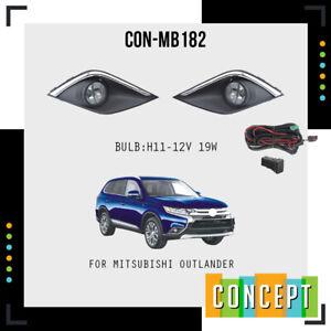 For 2017-2019 Mitsubishi Outlander Fog Lights Lamp with Assembly Set L&R Side