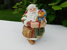 Fitz And Floyd Jolly Ole St. Nick Candy Jar