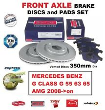 FOR MERCEDES G CLASS G 55 63 65 AMG 2008->on FRONT AXLE BRAKE PADS + DISCS 350mm