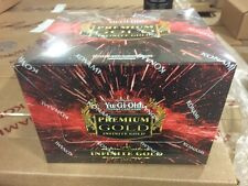 YU-GI-OH Premium Gold INFINITE GOLD 1st Edition SEALED BOOSTER BOX PGL3