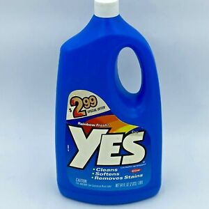 Vintage 1989 Yes Laundry Detergent 90% Liquid Remaining of 64 oz Bottle Dow HS