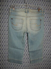Size 9 Retails/30.00 Duck Head Women's Denim Cropped Capri Stretch Blue Jeans