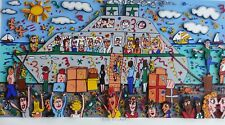 James Rizzi BON VOYAGE 1989 Serigraph 3-D construction Pop Art Hand signed 22x30