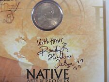 2000 P Sacagawea Randy'L Teton Hand Signed Native American Peoples Commemorative