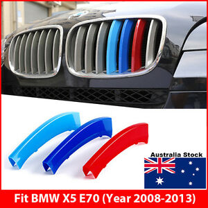 M Kidney Grill Grille Slats 3 Colour Cover Clip On Trim for BMW X5 E70 2008-2013