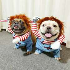 Pets Dogs Costume Party Chucky Halloween Cosplay Poppy Fancy Dress Jumpsuits~!