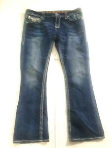 Rock ReVival Regular Blue Jean Women Pant Size 34 X 41)