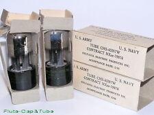 NOS MB SYLVANIA JAN-CHS 6SN7W Long tube Military Matched Pair Tubes Original box