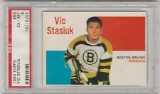 1960-61 TOPPS #66 VIC STASIUK, BRUINS, GRADED PSA 6, EX-MT