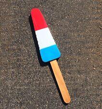 Fourth of July rocket Popsicle Metal Pop art sculpture ice desert sign