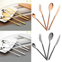 4Pcs/Set Stainless Steel Dinnerware Cutlery Fork Spoon Teaspoon Tool Gift
