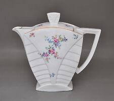 Art Deco Kaffeekanne kubistisches Design floraler Dekor Altrohlau