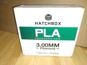 HATCHBOX PLA TRUE BLACK 3.00 MM 3D PRINTER FILAMENT NEW AND SEALED