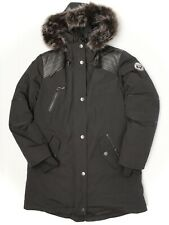 Arctic Expedition Womens Parka M Black Down Filled Coat Faux Fur Hood Winter