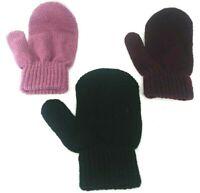 3 PACK Kids Gloves Stretchy Knit Mitten Winter Boys Girls Children Color AGE 3-9
