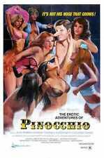 Eróticas Aventuras De Pinocho Cartel 01 A3 Caja Lona Impresión