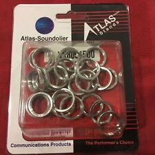 """PACK OF 25 ATLAS 5/8"""" CHROME LOCK RING - A58LR - MIC STAND"""