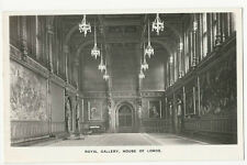 London - House of Lords, Royal Gallery - Vintage Real Photo Postcard