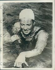 1934 Dutch Freestyle Swimming Champ Willy Den Ouden Press Photo