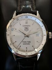 Tag Heuer Carrera Twin Time Auto 39mm Steel Mens Watch Date GMT Wv2116