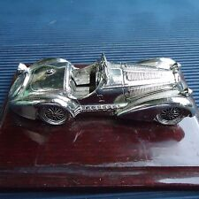 Voiture Ancienne Collection Socle Bois Fabrication Luxe Italie 12,5 x 10x4 Cm  .