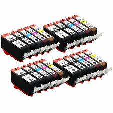 New ! 20PK Ink For Canon PIXMA MP560 iP4600 MP980 SFP1 PGI-220 CLI-221K CLI-221M