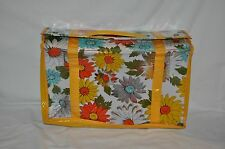VINTAGE PLASTIC DAISY SEE THROUGH PLASTIC DIAPER BOOK STORE BAG CUTE STYLISH