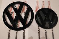 VW TRANSPORTER T6 2015- ONWARDS GLOSS BLACK EMBLEM FRONT & REAR BADGE SET TDI