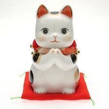 "1x Japanese 6-1/8H"" Seto Cat-L Kimono ""Wish"" Maneki Neko #590-249"