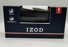 IZOD Mens Indoor Outdoor Slippers Foam Comfort Durable Size M 8-9 Black