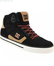DC SHOES SPARTAN HIGH TOP WC WINTER COLD SKATE SKATEBOARDING BOOTS BLACK MENS 12