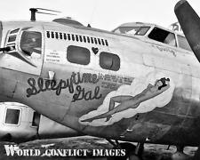 WW2 B-17 Bomber Sleepy Time Gal 8x10 Nose Art Photo 306th BG RAF Thurleigh WWII