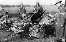 PILOTS OF 111 AND 32 SQUADRON DOWN GERMAN PLANE REDHILL 1940  MOUNTED WAR PRINT