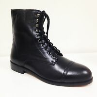New Men's Ankle Boots Genuine Leather Wing Tip Lace Up Oxfords Dress Shoes Sizes