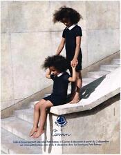 PUBLICITE ADVERTISING   2012    PETIT BATEAU  vetements enfants