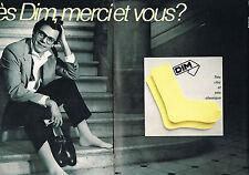 PUBLICITE ADVERTISING  1982   DIM  chaussettes ( 2 pages)