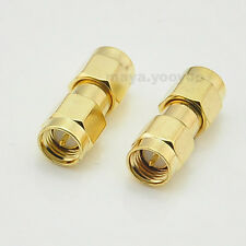 2pcs SMA male To SMA male plug Straight RF FPV Radio connector Adapter
