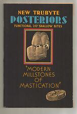 VTG New Trubyte Posteriors Modern Millstones of Mastication Book 1935 NM N