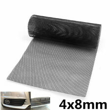 8MMx 4MM Al Mesh Grill Cover Bumper Fender Hood Vent Grille Net Universal Black