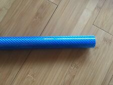 1X3K Carbon Glass Fibre Tube Blue gloss 27mm *25mm*500mm