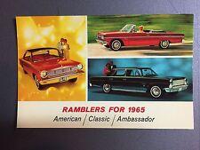 1965 AMC American Motors Ramblers for 1965 Postcard RARE!!