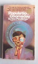 Don Pendleton POPULATION DOOMSDAY Pinnacle Books 1974 pb